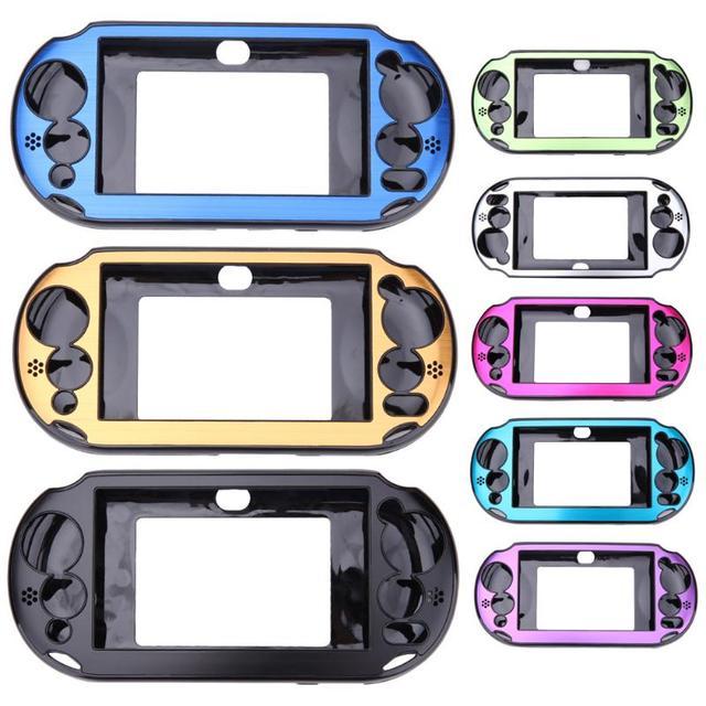 소니 플레이 스테이션 PS Vita 2000 PSV PCH 20 dropshipping에 대 한 5 색 알루미늄 스킨 케이스 커버 셸