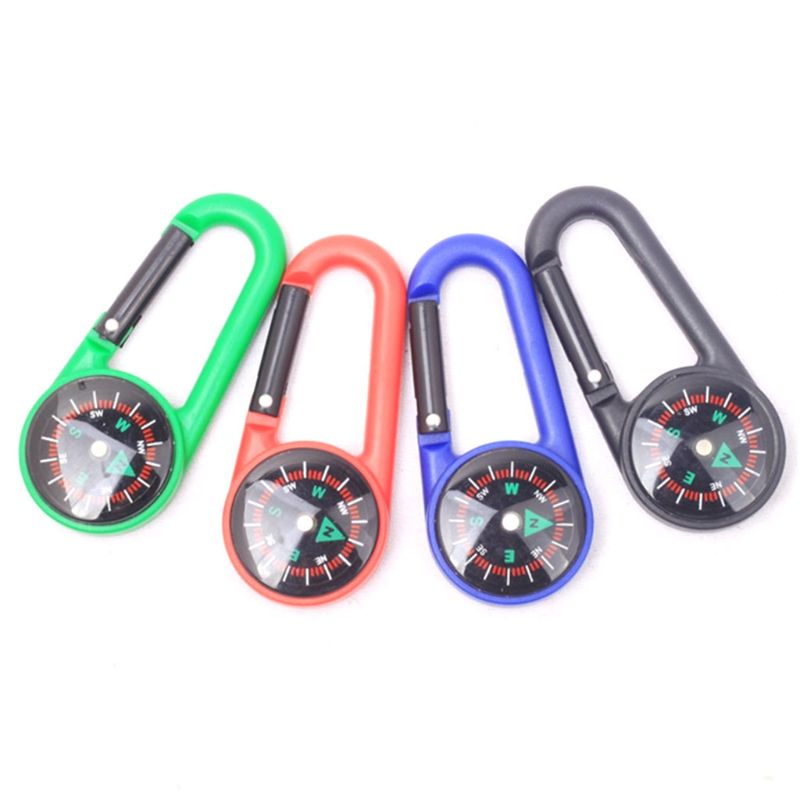 Image 2 - Sturdy Plastic Compass Keychain Waterproof Pocket Size Key Ring Decor Outdoor Camping Gear Adventure Survival Accessory-in Outdoor Tools from Sports & Entertainment