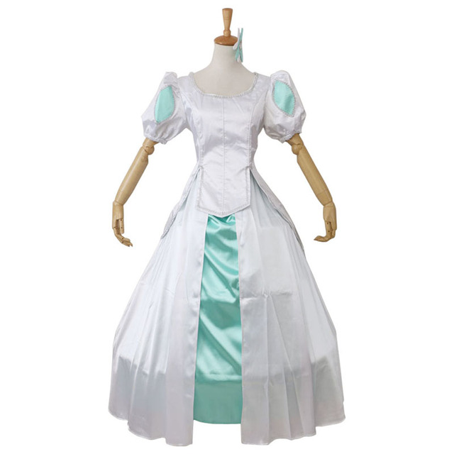 Us 159 0 Custom Made The Little Mermaid Princess Ariel White And Green Nicely Dress Cosplay Costume Halloween On Aliexpress Com Alibaba Group