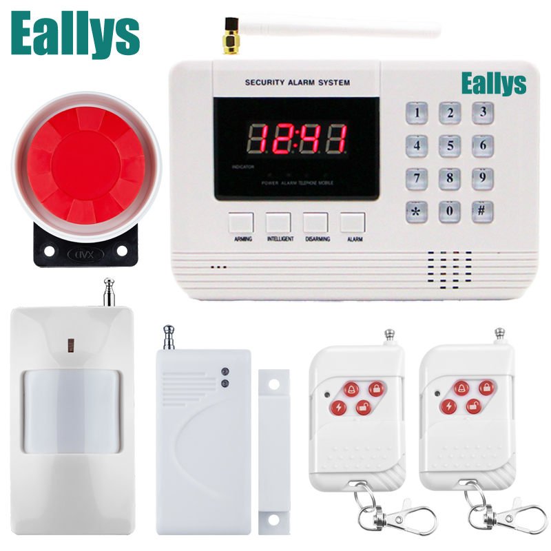 Wireless/wired Phone SIM GSM Home Burglar Security GSM Alarm System English Voice Prompt Alarm Sensor kit free shipping wired outdoor pir phone sim gsm home burglar security gsm alarm system voice prompt alarm rolling door sensor kit