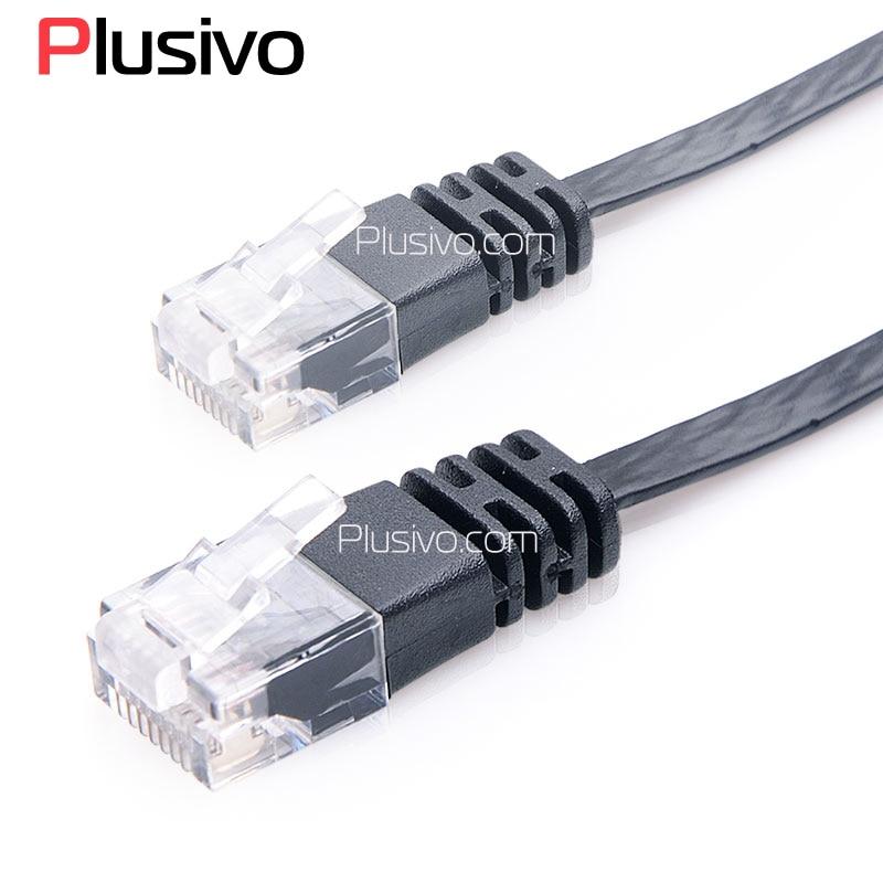 Լավագույն գին բարձրորակ Super Flat CAT6 Cable CAT6 Ethernet Network Patch Cable CAT6 բարձր արագությամբ ինտերնետի համար Սև գույն
