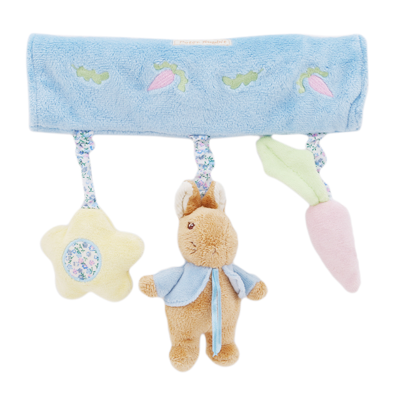 Cute Baby Stuff Toy Crib Bed Hanging Ring Bell Lion Toy Soft Baby Rattle Early Educational Doll Animal Plush Toy Comfort Towel