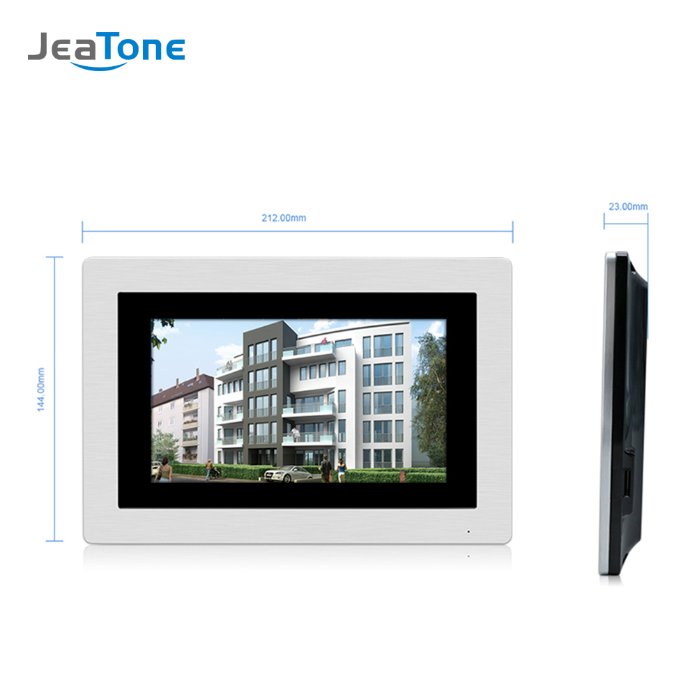Image 2 - 7 Touch Screen WIFI IP Video Door Phone Intercom +Switch 4 Floors Building Access Control System Support Password/IC CardVideo Intercom   -