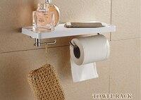 1 PC S/Aço suporte de papel do banheiro suporte do telefone com suporte de papel toalheiro prateleira do banheiro telefones celulares KF 2008|holder mobile|holder rack|holder paper -