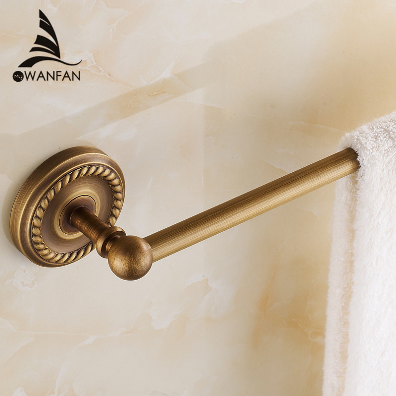 Towel Bars 60cm Single Rail Antique Brass Towel Holder Bath Shelf Towel Hangers Bathroom Accessories Black Wall Shelves  HJ-1310 lnk564pn dip 7