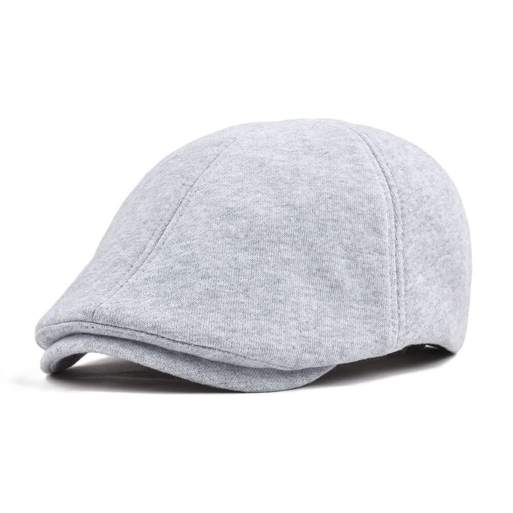 VOBOOM Cotton Duckbill Flat Cap Men Gray Beret Women Ivy Gatsby Caps Classic 6 Panel Hat Male Female 320