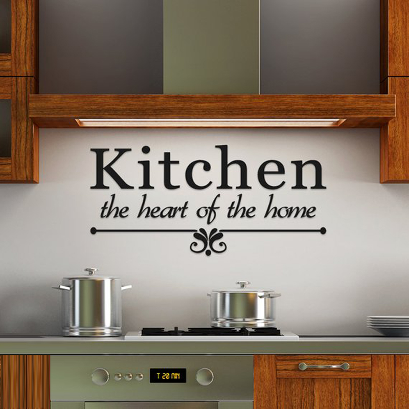 Creative THE Kitchen IS THE Heart OF THE HOME Wall Sticker Decal Home Decor T