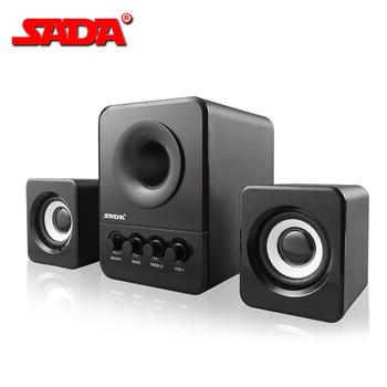 SADA D-203 USB przewodowa połączenie głośnik komputer głośnik basowy odtwarzacz muzyki Stereo Subwoofer głośnik dla komputery PC laptopy tanie i dobre opinie Z tworzywa sztucznego Głośniki komputerowe Brak 3 (2 1) Pełny Zakres Inne V3816