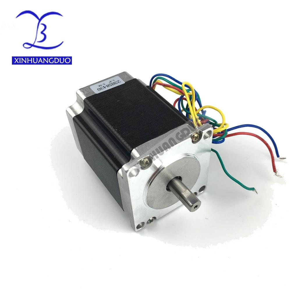 Nema 23 Stepper Motor 2 phase 4 Leads 270 Oz in/180Ncm 76mm CNC 3D Printer 23HS8430 1.8deg Free shipping XINHUANGDUO
