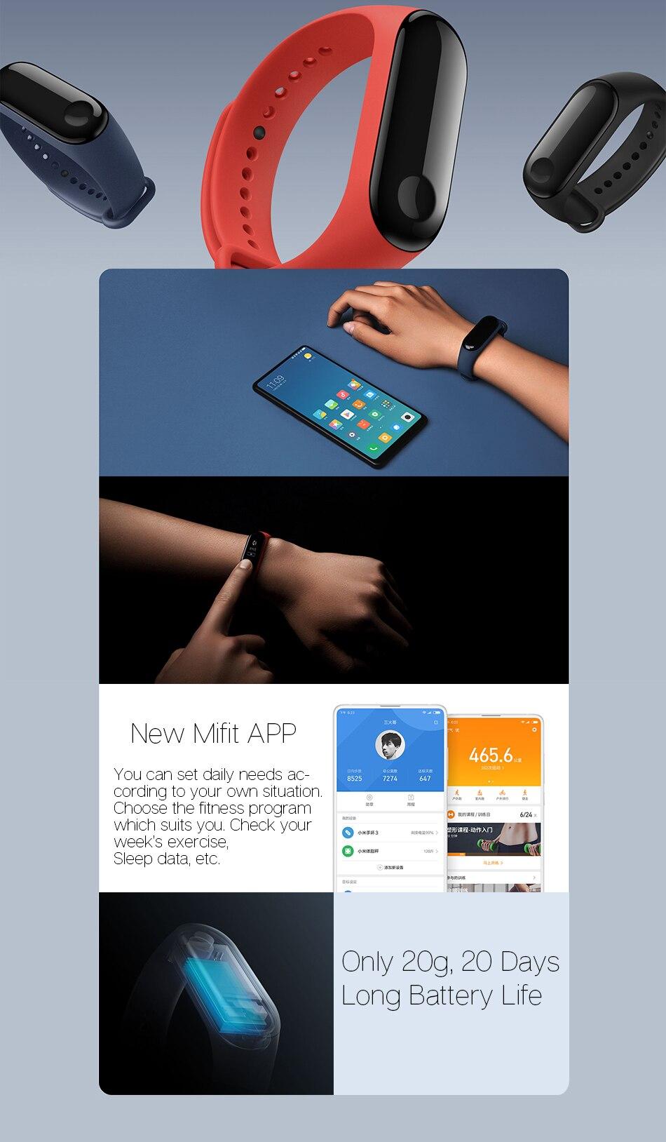 Xiaomi mi band 3 4