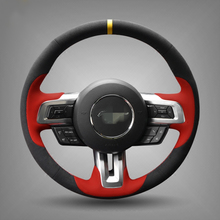 Вручную прошитый Черные Замшевые Руль Обложка для 2015 2016 новый ford mustang