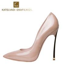 Mujer Zapatos de marca de Alta Talones de Las Mujeres Bombas de tacón de Aguja Zapatos De Tacón Alto las mujeres zapatos de Tacón Alto Del Dedo Del Pie Puntiagudo Zapatos De La Boda Desnuda Tamaño Grande 43