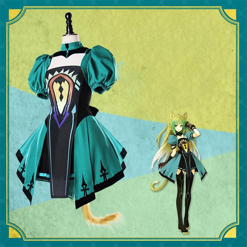 Halloween party  Anime Fate apocrypha Semiramis Atalanta costume dress Uniforms(wigs) S-XL Cosplay Costume For Halloween