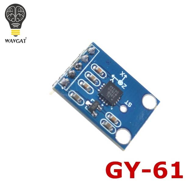 US $3 2 |WAVGAT GY 61 3 5V ADXL335 Module 3 axis Analog Output  Accelerometer Angular Transducer Module-in Integrated Circuits from  Electronic