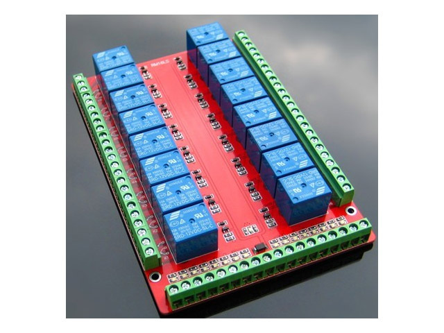 16 Channel Relay Shield Module RM16LS 5V 12V 24V  raspberry pi pcduino development board diy kit rc electronic toy