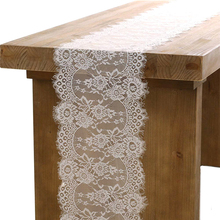 35X300cm Wedding Decoration White Lace Table Runner Chair Sash Cloth Party Home Decor DROP SHIPPING OK