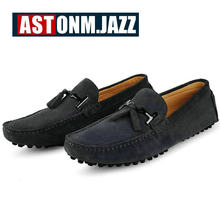 06c40062885 2017 Men s Casual Suede Handmade Penny Loafers Breathable Leather Driver  Slip-on Boat Shoes Fashion Moccasins Men Leather Loafer