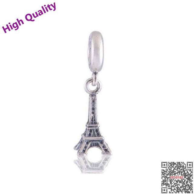 Charm Travel Paris Eiffel Tower Dangle 925 Sterling Silver Charms Pendant European Beads for Snake Chain Bracelets nqp8nS0O