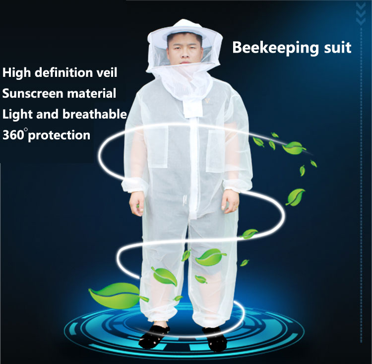 Unisex Breathable bee protective clothing Conjoined protective clothing Beekeepers suit, Sunscreen, breathableUnisex Breathable bee protective clothing Conjoined protective clothing Beekeepers suit, Sunscreen, breathable