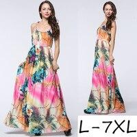 Vestidos Mujer Verano 2017 Women Summer Beach Dress Plus Size Dresses For Women 4XL 5XL 6XL