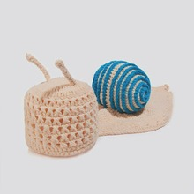 Infant Cute Crochet Christmas Hand-woven Wool Suit Snail Newborn Baby Clothes Photography Prop outfits 5SY120