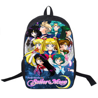 Anime Sailor Moon Backpack SailorMoon Crystal Backpack For Teenagers Girls Children School Bags Women School Backpacks