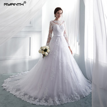 Ryanth Robe De Mariage Vintage Long Sleeve Lace Wedding Dress 2018 A-line Vestido Noiva Dresses Gown Novia