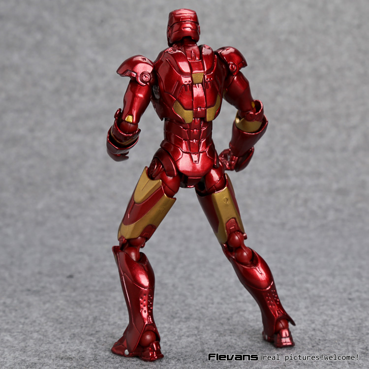 SCI-FI Revoltech Iron Man Mark III NO.035 Mark 2 PVC Action Figure Silver or Red