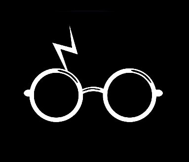 Harry Potter Glasses and Scar Decal Vinyl Sticker Cars Trucks Vans Walls Laptop White 3 75 x 2 75 in CCI1391 in Car Stickers from Automobiles Motorcycles