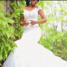 2019 New Glamorous African Mermaid Wedding Dress Sheer Back Wedding Gowns  Vestido De Noiva(China a8fad9c38b45