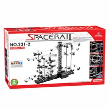 1pcs Level 2 SpaceRail 10000mm Marble Roller Coaster With Steel Balls DIY Spacewarp