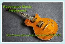 Neuankömmling custom shop g lp deluxe gitarre Riegelahorn in gelb goldene Hardware& Linkshänder lp gitarre verfügbar