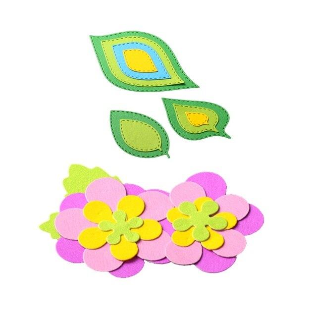 Bi Fujian Metal Cutting Dies Leaves Flowers Frame Scrapbook Paper