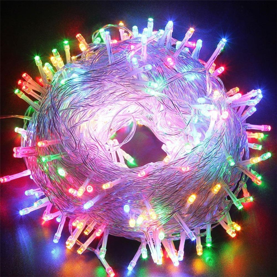 Outdoor String Lights 5M 10M 20M 30M 50M 100M Led Garland String Fairy Light 8 Mode Christmas Light Holiday Wedding Party