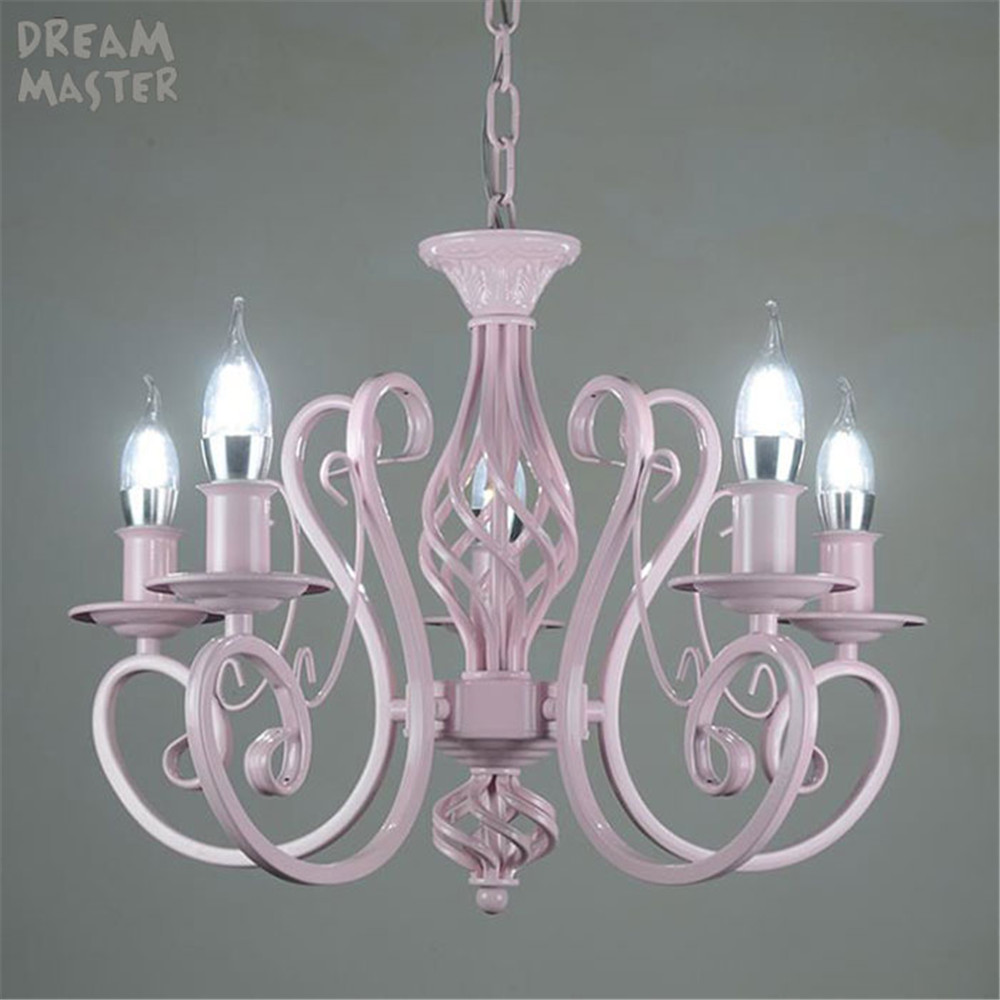 Light pink LED Chandelier Lighting Modern Chandeliers Kitchen bedroom Light Fixtures Lampshade Lustre Livring room Lamp