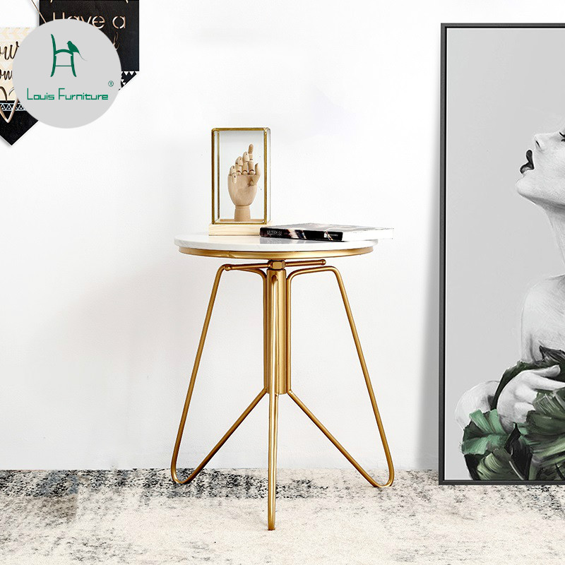 Louis Fashion Coffee Tables Simple Sofa Nordic Marble Gold Iron Balcony Can Lift In From Furniture On Aliexpress Alibaba Group