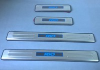 Car styling For KIA RIO 2002 2005 2006 2007 2008 2009 2010 2011 20122013 welcome pedal LED illuminated sill threshold strip bar