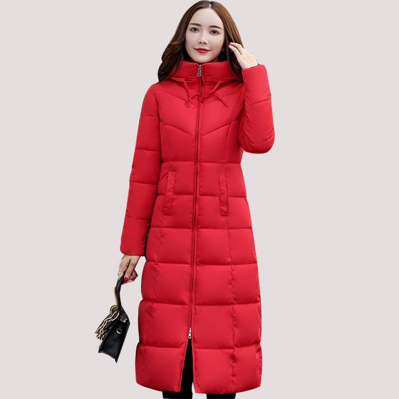 ad9651dd7c5b7 Taille Femmes Noir Vestes Et blanc Grande Épaisse rouge Manteau 3xl D'hiver  Manteaux 2018 Green ...