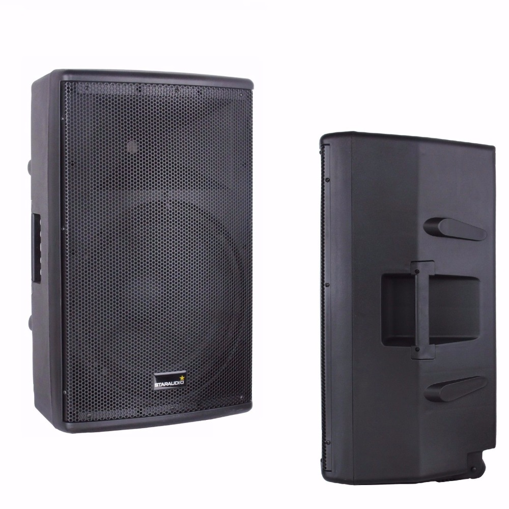 STARAUDIO 1Pc 2-Way 15 4000W Powered Active PA DJ Stage USB SD Bluetooth Audio Karaoke Speaker SHD-15