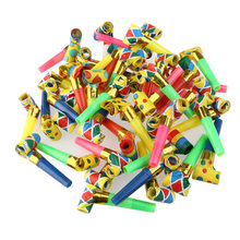 48pcs Colorful Funny Blowouts Party Birthday Blow Outs Noisemakers Whistle Baby Birthday Supplies Toys Gift(China)
