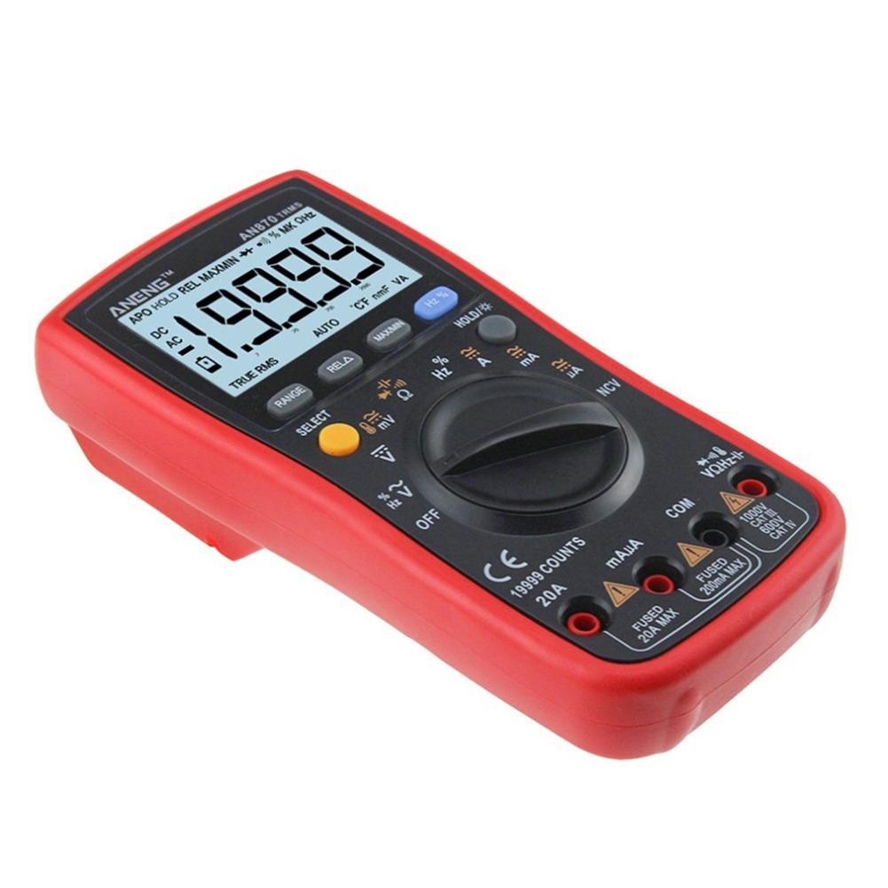 ANENGAN870DigitalMultimeter19999TrueRMSAC/DCVoltageVoltAmpere High Safety Handheld Meter Digital Multimeter Sep 20