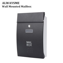 ALWASYME настенный почтовый ящик вертикальный замок падение почтовый ящик Передняя крыльцо жилой открытый для почтового обслуживания Сад квартиры