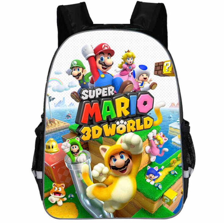 Super Mario Backpack Animal Anime Game Sonic Bros Casual Personalized School Bags Toddler Boys Girls Teenager Mochila Bolsa