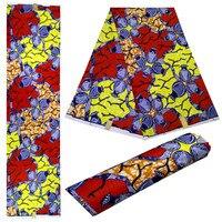 Ankara African Printed Fabric For Dress,Guaranteed Real Java Wax Print 6Yard,Dutch Java Wax Kente Fabrics 100% Polyester!DF 4227