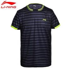 Li-Ning, новинка, мужские рубашки для бадминтона, дышащие, обычная посадка, спортивные, удобные, футболки, подкладка, футболка, AAYM143 CJFM17