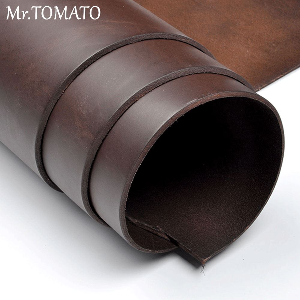 leather piece craft vegetable tanned leather thick genuine leather about 4.0 mm cowhide Genuine Cowhide Veg tan Handmade precut image