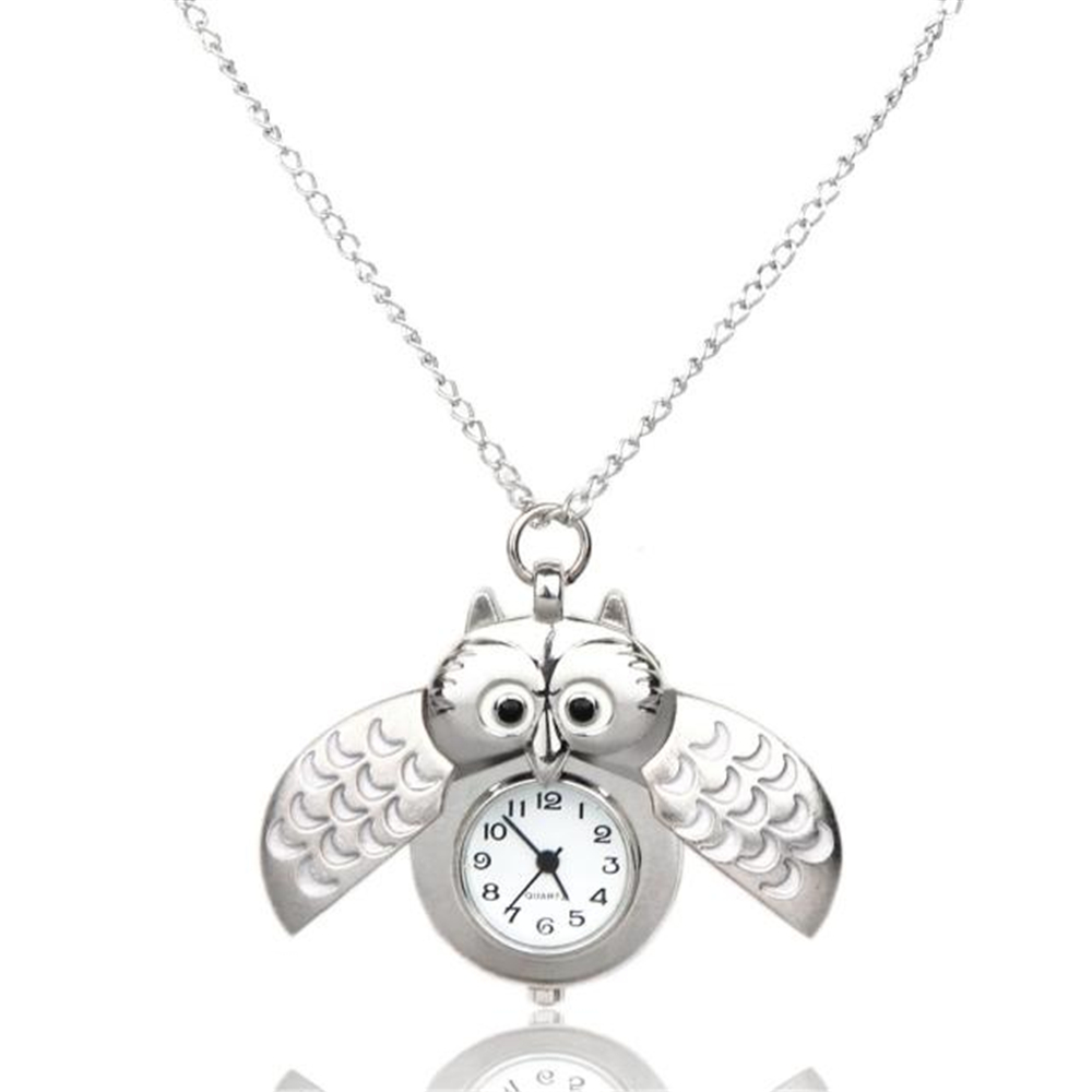 OTOKY Pocket Watch Women Fashion Mini Metal Owl Double Open Quartz Watch Reloj Mujer Pendant Hanging Relogio Masculino