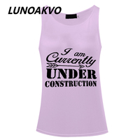 I Am Currently Under Construction Flowy Tank Top Workout Women Tank Top