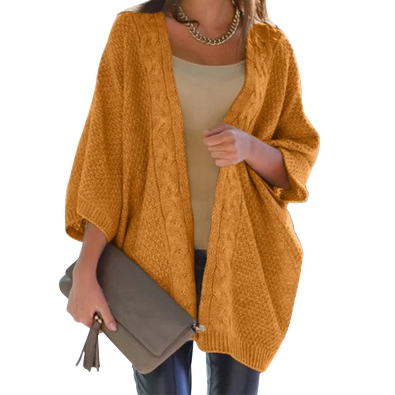 Womens Loose Fit Knitted Outwear Jackets Warm Cardigan Coats Korean Candy Autumn