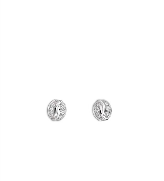 Brand Fashion Wedding Jewelry For Women Bowknot Earrings Cubic Zirconia X Stud Earring Silver France Paris In From